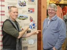 Duluth Trading Illustrator Rick Kollath and his friend Erik - the Original Plumber's Butt Model!