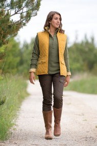 There's nowhere this vest won't go! Cortland Quilted Vest, DuluthFlex Fire Hose Slim Cargo Pants, Heritage Ribbed Mock Turtleneck and Andina Leather Tall Boots