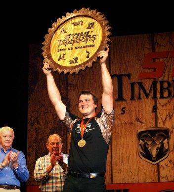 STIHL TIMBERSPORTS U.S. Champion Matt Cogar