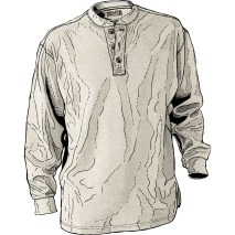 Longtail T Waffle Thermal Henley Item #33531