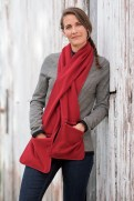 Shoreline Fleece Pocket Scarf Box Car Red