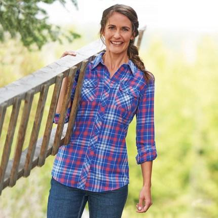 Women's Crosscut Flannel Shirt