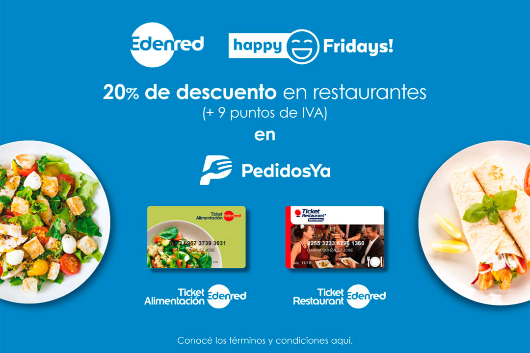 Promo Happy Fridays con Edenred