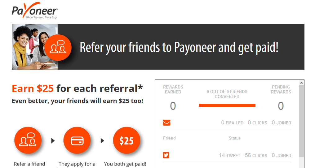 payoneer refer a friend
