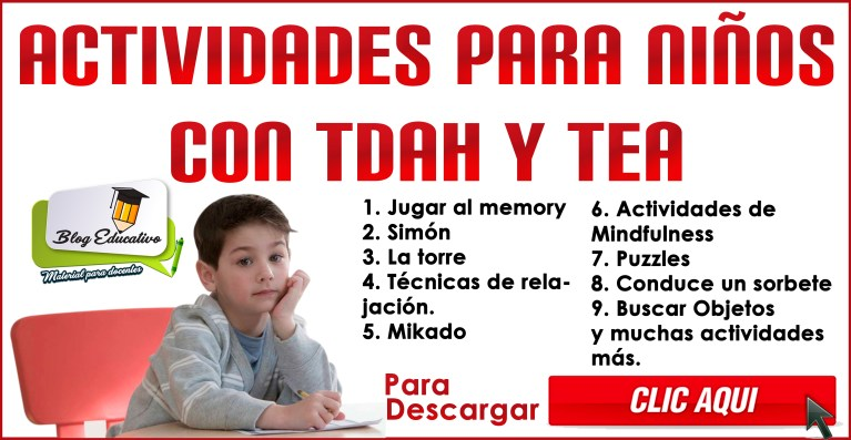 Actividades para niños con Problemas de Aprendizaje (TDAH Y TEA)