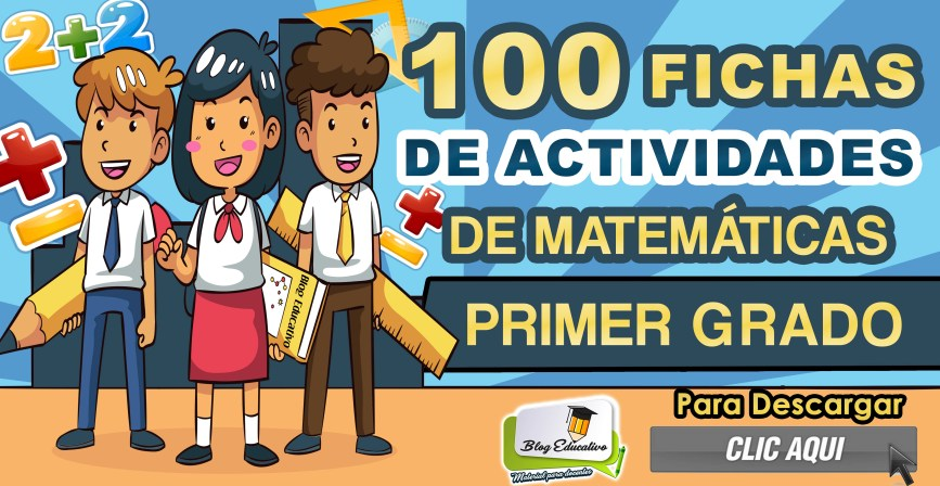 100 fichas de actividades de matemática para primer grado