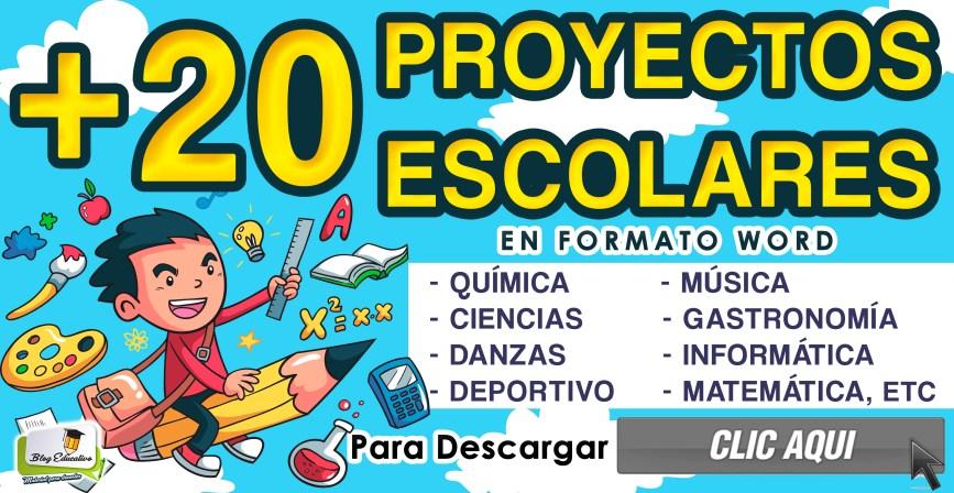20 Proyectos Escolares - Varios Temas - Blog Educativo