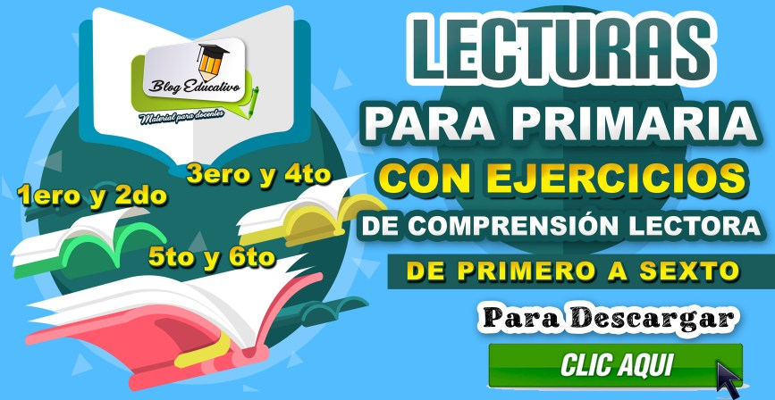 Lecturas con ejercicios de compresión - PRIMERO A SEXTO