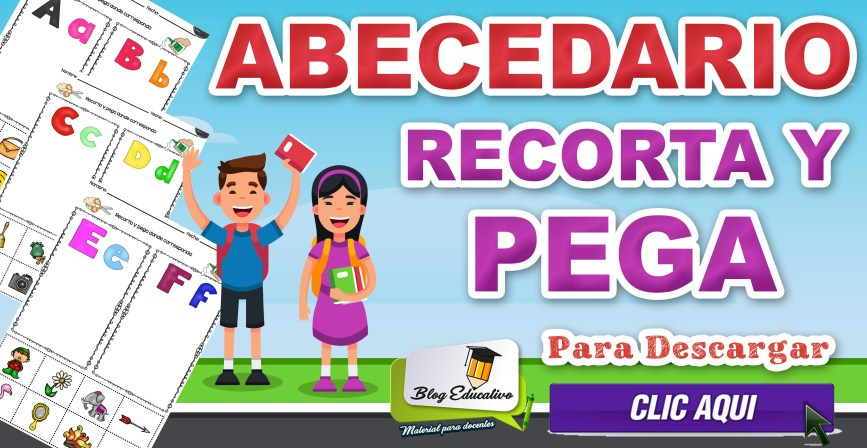 Abecedario Recorta y Pega gratis - Blog Educativo