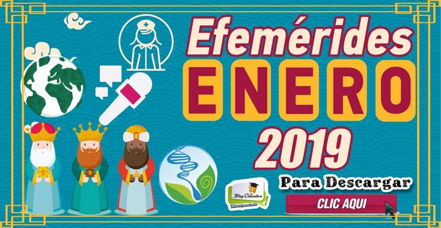 Efemérides de Enero 2019 - Fichas ilustrativas - Gratis