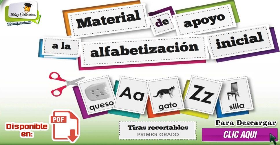 Material de apoyo a la Alfabetización inicial - Tiras Recortables