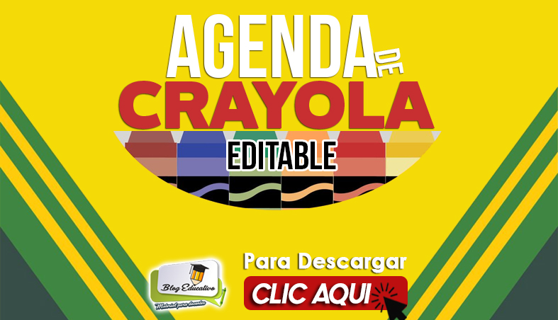 Agenda de CRAYOLA en Power Ponit Editable - Blog Educativo