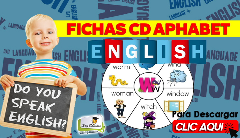 Fichas CD Aphabet English Gratis - Blog Educativo