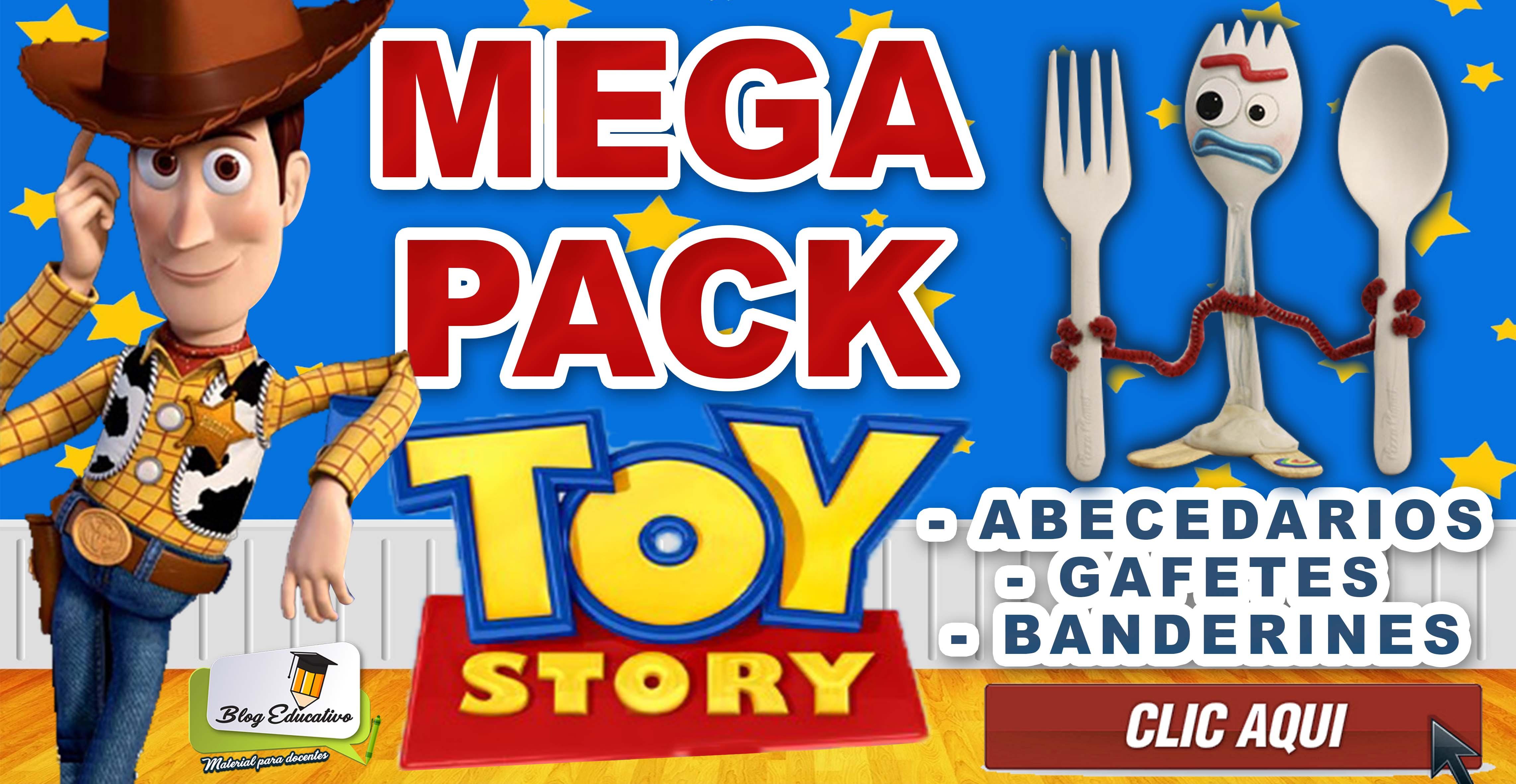 Mega Pack Toy Story - Banderines, Gafetes, Banderines