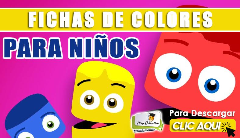 Fichas de Colores para niños Gratis - Blog Educativo