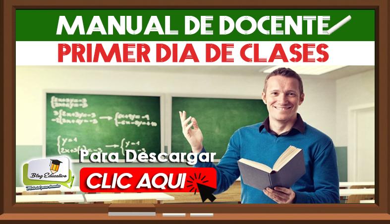 Manual de Docente - Primer Día de Clases Blog Educativo