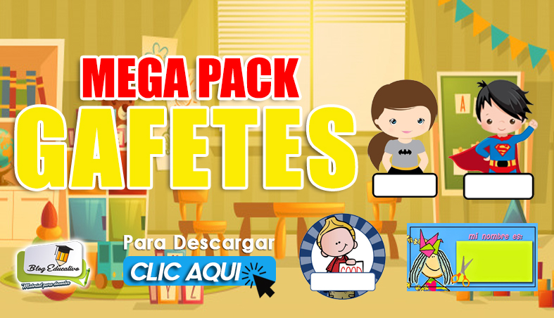MEGA PACK DE GAFETES PARA COMIENZO DE CLASES
