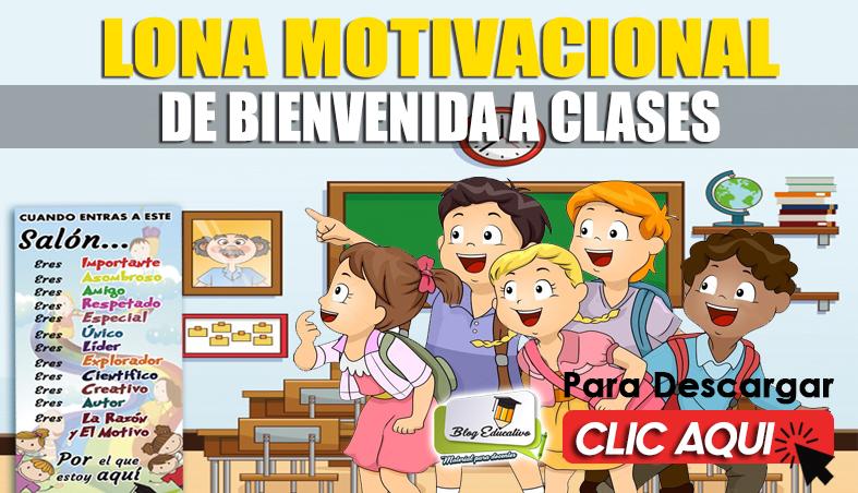 Lona Motivacional de Bienvenida a Clases - Blog Educativo