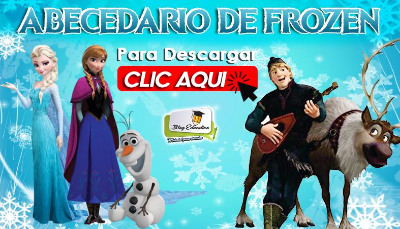 Abecedario de Frozen gratis en PDF - Blog Educativo