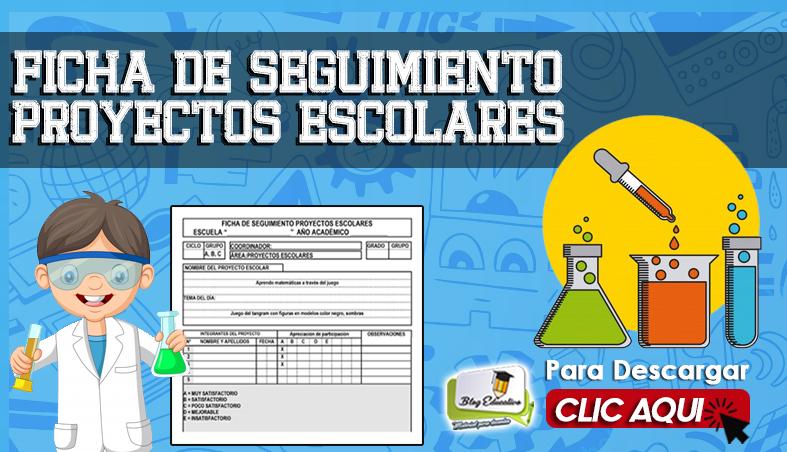 Ficha de Seguimiento Proyectos Escolares en word