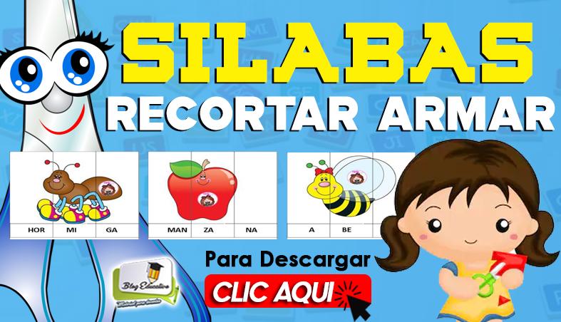 Fichas de Silabas Recortar Armar - Blog Educativo