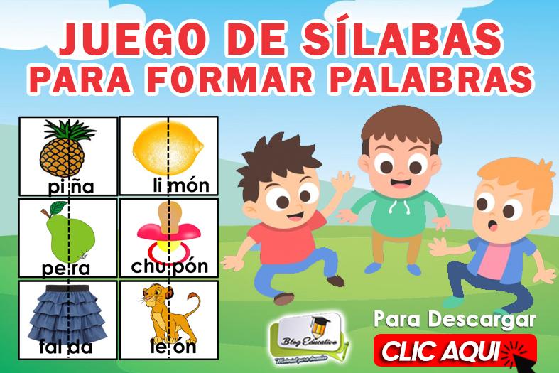 JUEGO DE SÍLABAS PARA FORMAR PALABRAS