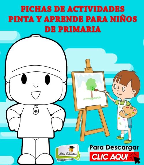 Ficha de Actividades Pinta y Aprende para Niños de Primaria