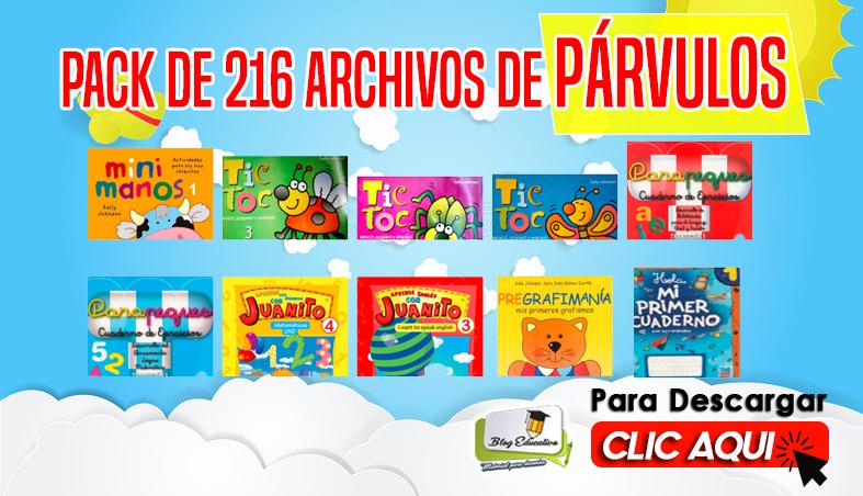 Párvulos Pack de 216 Archivos para Descargar Gratis