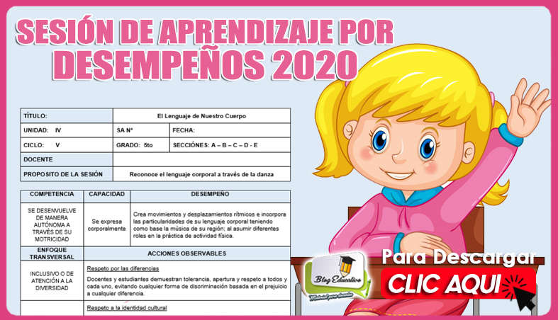 Sesión de Aprendizaje por Desempeño 2020 GRATIS