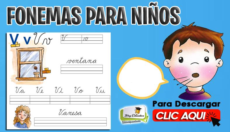 Fichas de Fonemas para Niños gratis - Blog Educativo