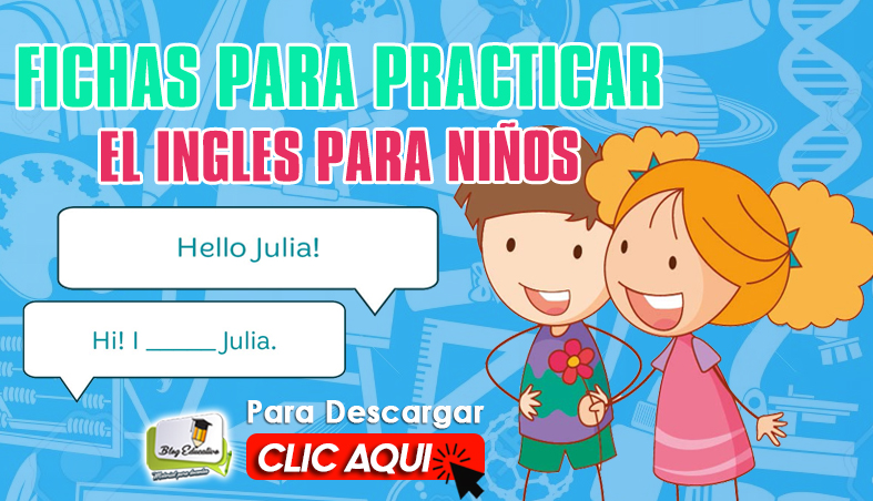 Fichas para Practicar el Ingles para Niños - Blog Educativo