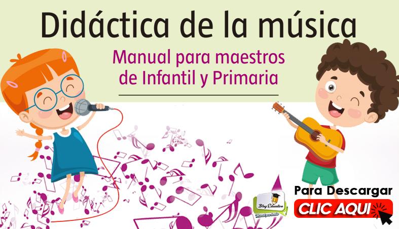 Didáctica de la Música Manual para Maestros Gracias