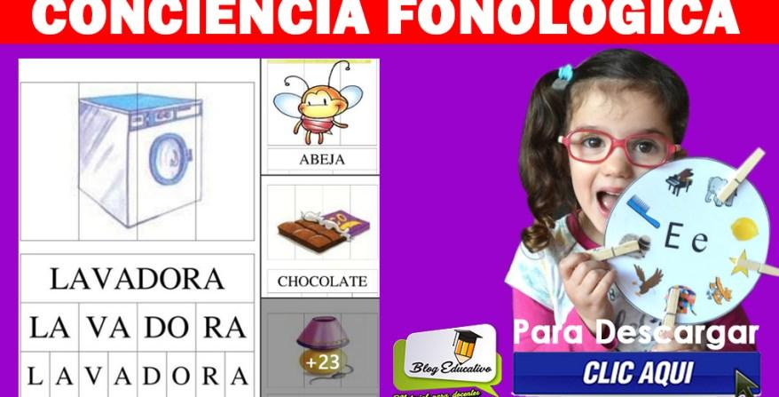 Conciencia Fonológica Guía digital Blog Educativo