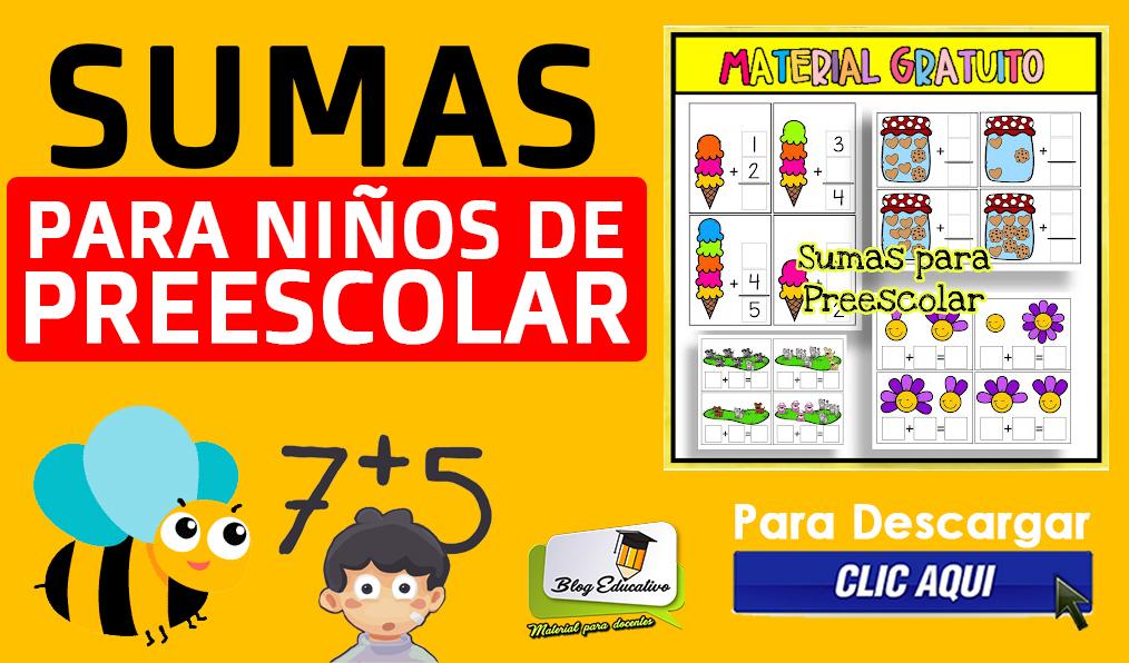 Sumas para Niños de Preescolar #3 Blog Educativo