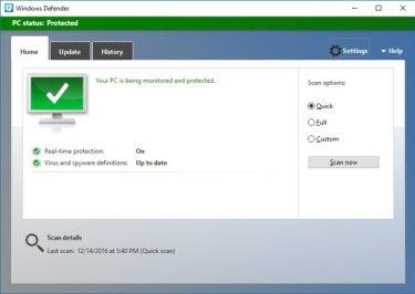 Microsoft Windows Defender Dialog Popups