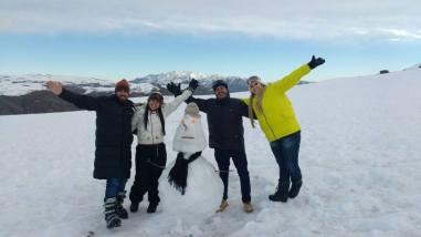 Todos na neve
