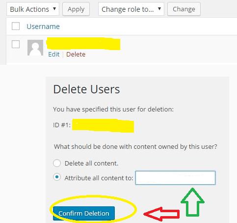 WordPress Administrator User Name