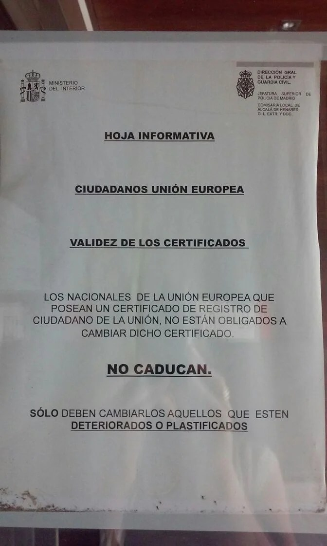 Validez certificados ue blog extranjer a asociaci n for Legalizaciones ministerio del interior