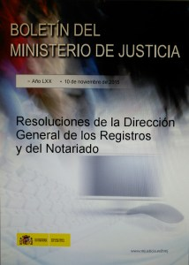 Resoluciones DGRN Abril 2015