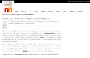 Foto nuevo centro de examen CCSE Gerona