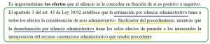 Cuadro destacado página 5 estudio sobre silencio administrativo ICAM