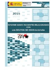 Foto portada informe MInterior sobre delitos de odio 2015