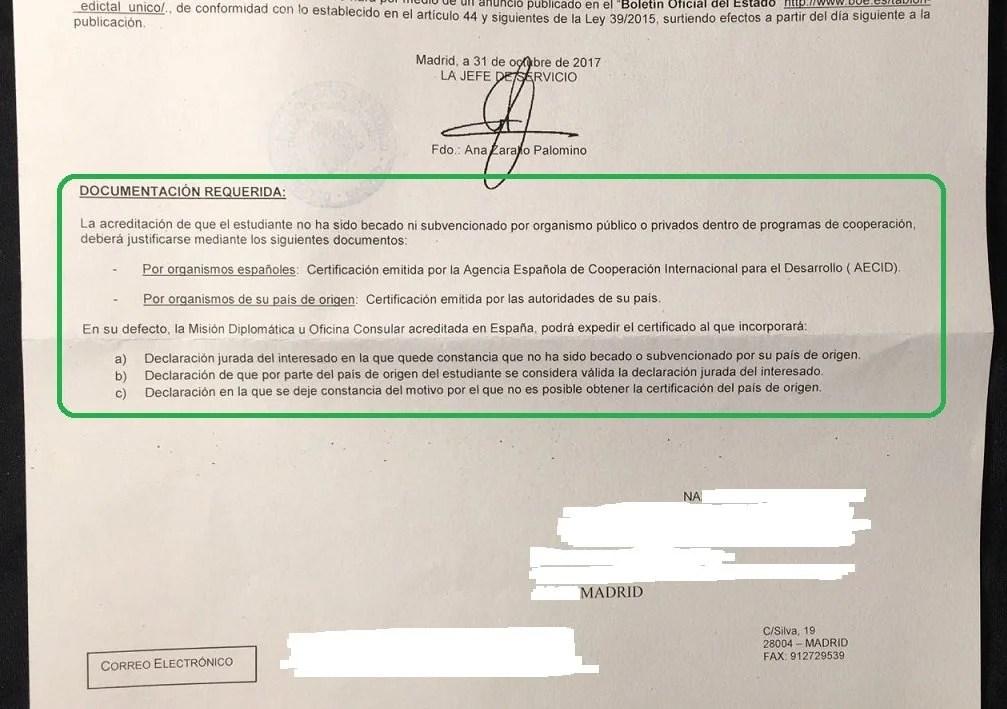 Certificado de origen espana