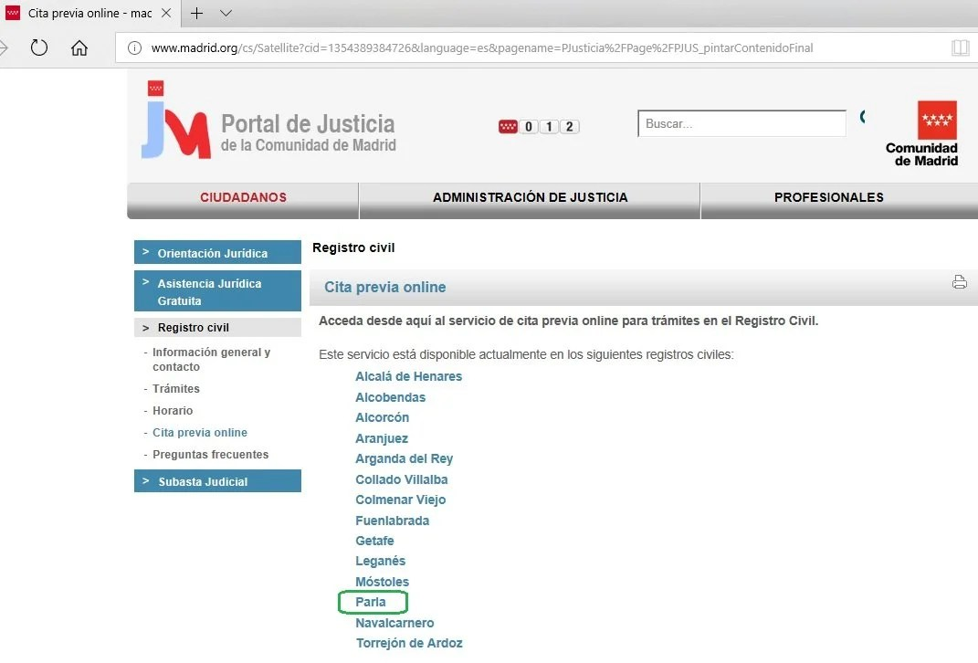 Cita online embajada americana madrid