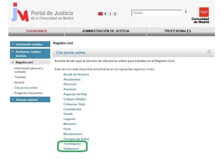 Cita previa online registro civil barcelona