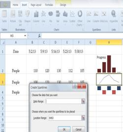 Excel Sparklines