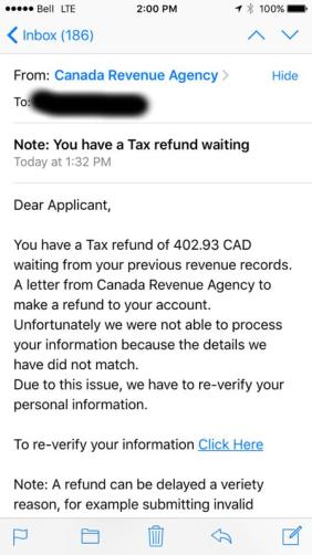 CRA Email Phishing