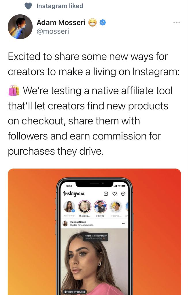 Instagram affiliate tool