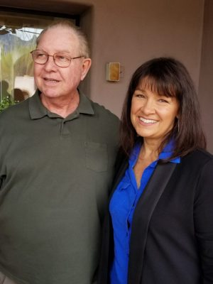 Candidates Jim Love and Victoria Steele for Tucson's state senator.