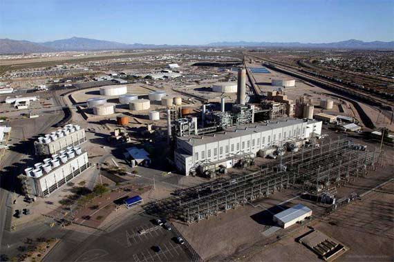TEP's Sundt generating station on Irvington Road in Tucson.